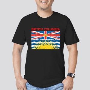 Flag of British Columbia Men's Fitted T-Shirt (dar