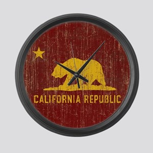 Vintage California Republic Large Wall Clock