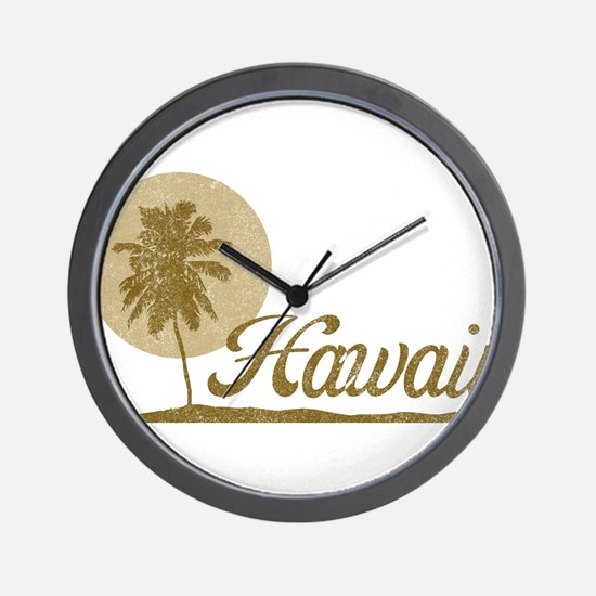Palm Tree Hawaii Wall Clock