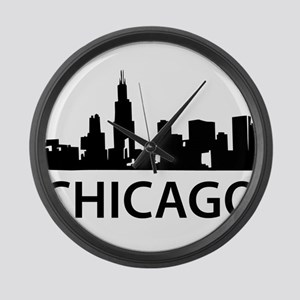 Chicago Skyline Large Wall Clock