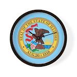 Illinois Seal Wall Clock