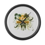 Palm Tree Maryland Large Wall Clock