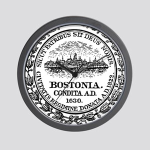 Boston Seal Wall Clock