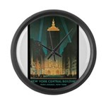 New York Central Building Large Wall Clock