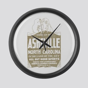 Vintage Asheville Large Wall Clock
