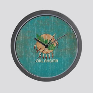 Vintage Oklahoma Flag Wall Clock