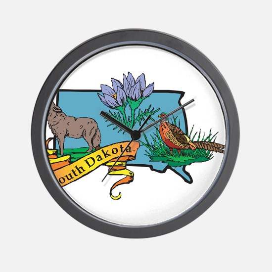 South Dakota Wall Clock