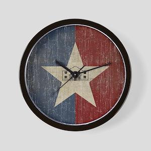 Vintage San Antonio Flag Wall Clock
