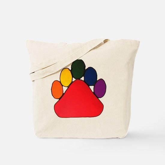 RAINBOW BEAR PAW Tote Bag