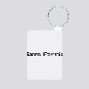 Save Ferris (Grungy) Aluminum Photo Keychain