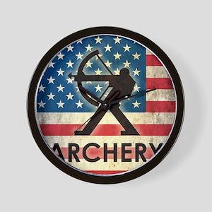 Grunge USA Archery Wall Clock