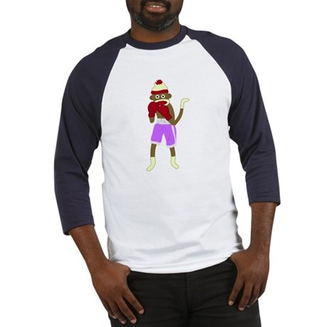 Sock Monkey Boxing Gloves Baseball Jersey