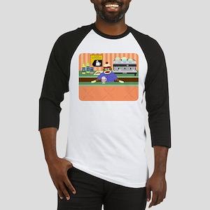Sock Monkey Coffee Shop Barista Baseball Jersey