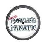 Bowling Fanatic Wall Clock