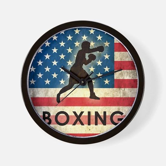 Grunge USA Boxing Wall Clock