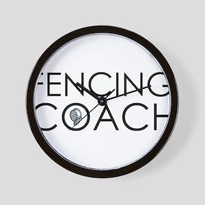 Fencing Coach Wall Clock