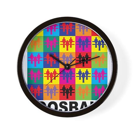 Pop Art Foosball Wall Clock