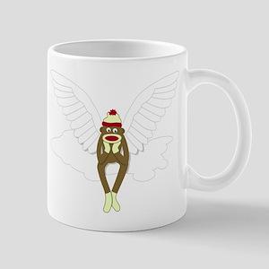 Sock Monkey Guardian Angel Wings Coffee Mug