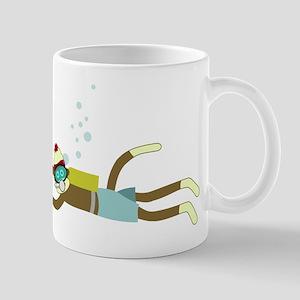 Sock Monkey Scuba Diver Coffee Mug
