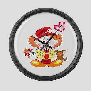 Love Clown Large Wall Clock