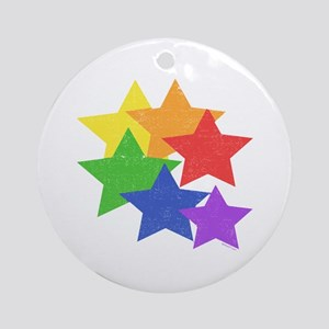 Gay Stars Vintage Ornament (Round)