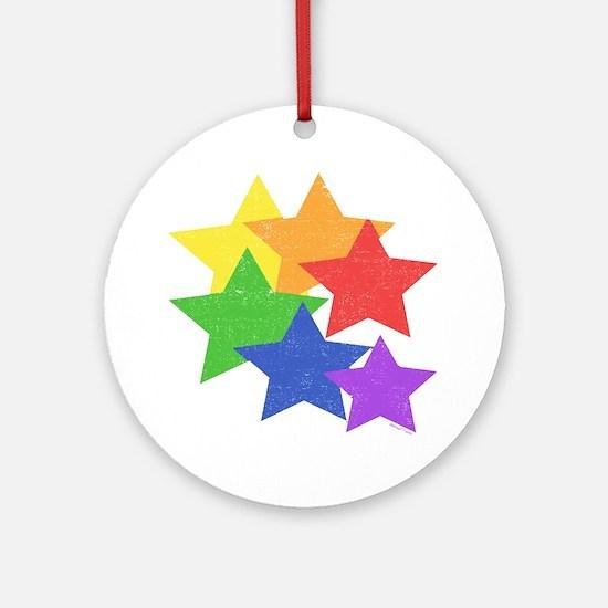 Gay Stars Vintage Ornament (Round)