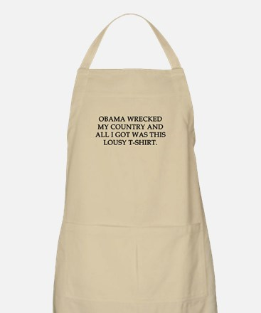Obama wrecked my country Apron