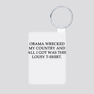 Obama wrecked my country Aluminum Photo Keychain