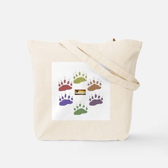PRIDE FLAG-6-RAINBOW BEAR PAWS Tote Bag