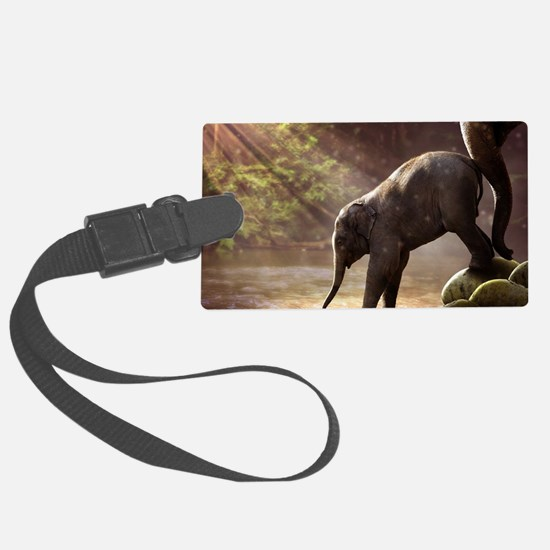 Funny Red elephants Luggage Tag