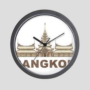 Vintage Bangkok Temple Wall Clock
