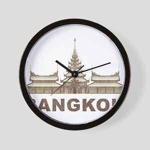 Vintage Bangkok Temple Wall Clock