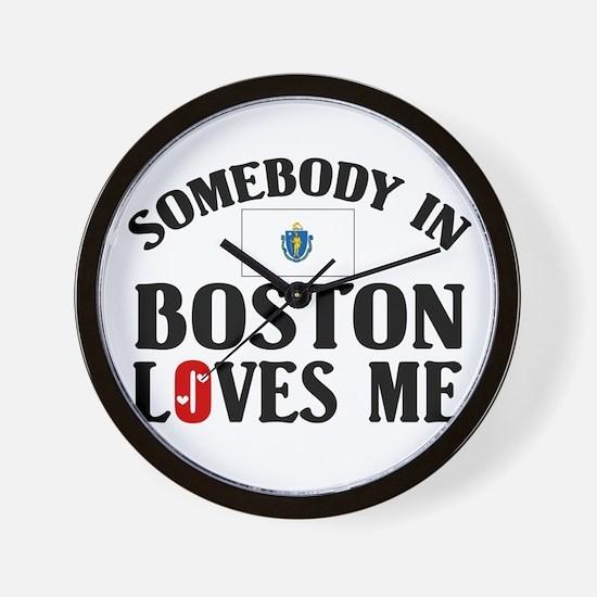 Somebody In Boston Wall Clock