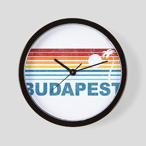 Palm Tree Budapest Wall Clock