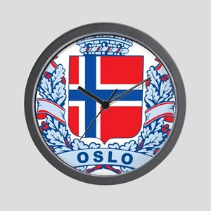 Stylish Oslo Crest Wall Clock