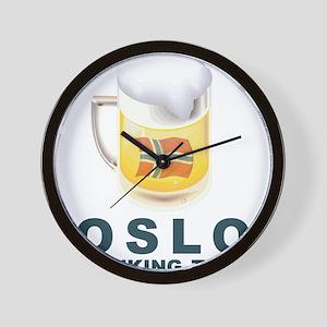 Oslo Drinking Team Wall Clock