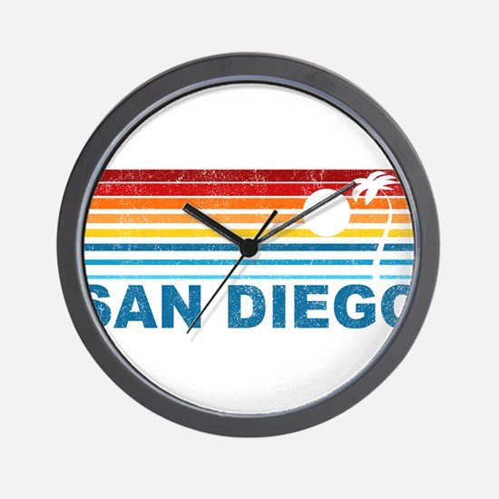 Palm Tree San Diego Wall Clock