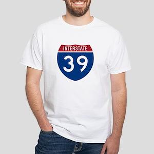 I-39 White T-Shirt