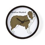 Australian Shepherd Wall Clock