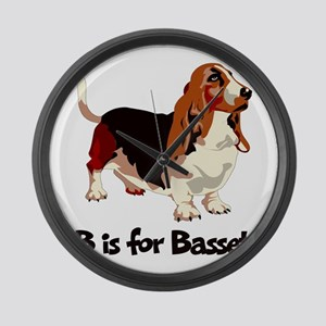 B is for Basset Large Wall Clock