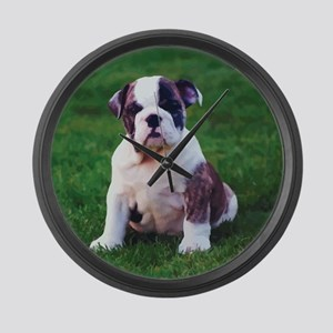 Cute Bulldog Large Wall Clock