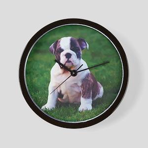 Cute Bulldog Wall Clock