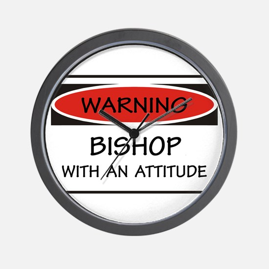 Attitude Bishop Wall Clock