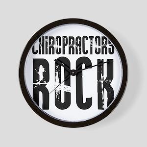 Chiropractors Rock Wall Clock