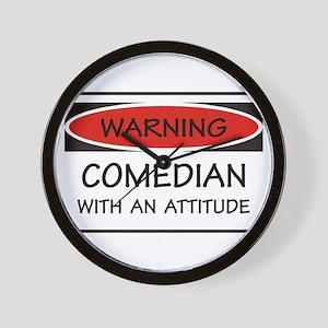 Attitude Comedian Wall Clock