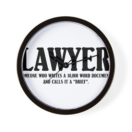 Funny Lawyer Wall Clock By Tshirtsshop