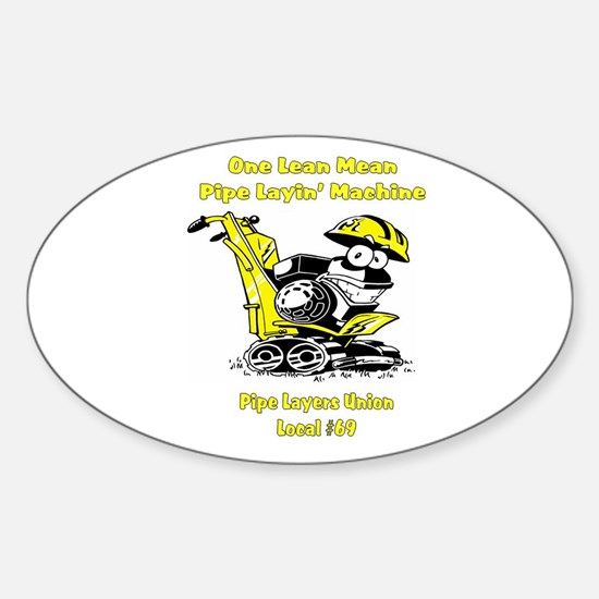 Pipe Layers Union Oval Decal