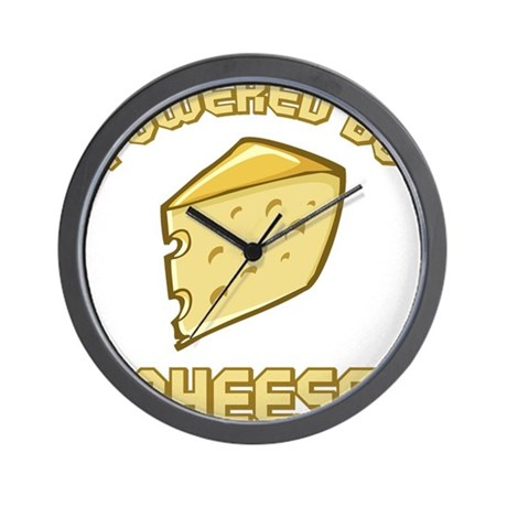 Powered By Cheese Wall Clock