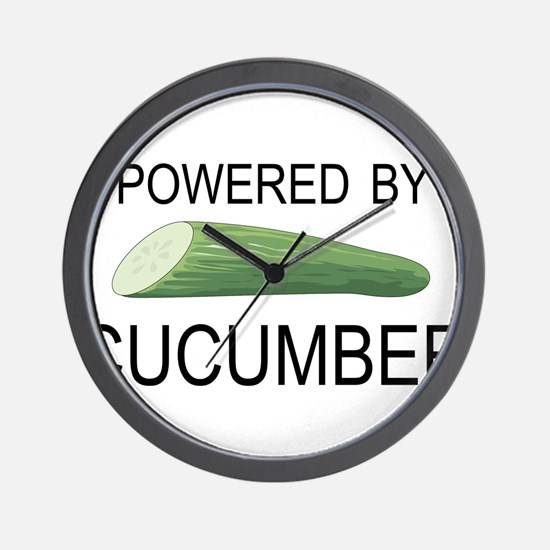 Powered By Cucumber Wall Clock