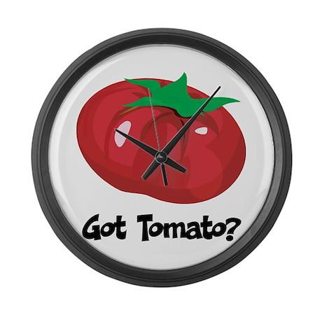 Got Tomato Large Wall Clock